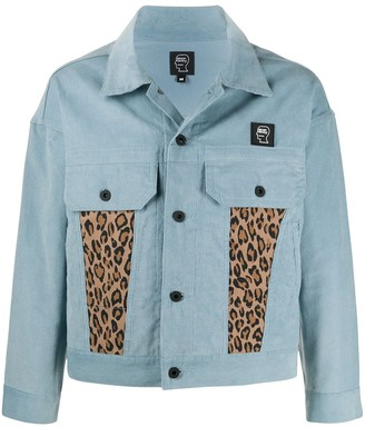 Brain Dead Corduroy Leopard Print Panel Jacket