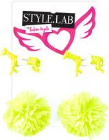 Fashion Angels Yellow Horse & Pom-Pom Earrings Set