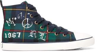 Ralph Lauren Hamptyn Cotton Hi-Top Sneaker