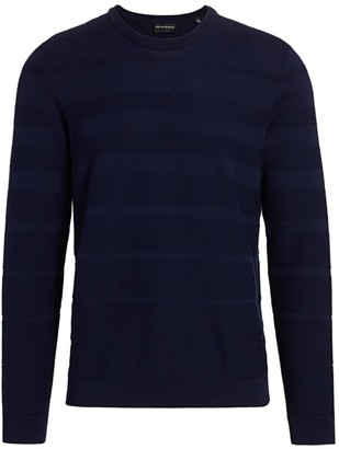 Emporio Armani Uneven Stripe Sweater