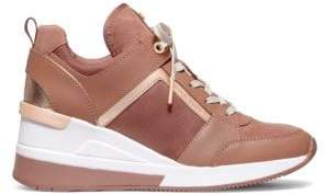 MICHAEL Michael Kors Georgie Leather Wedge Sneakers