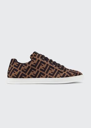 Fendi Men's Allover FF Low-Top Sneakers