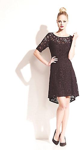 Betsey Johnson Short Sleeve Lace Dress