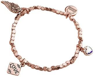 Alex and Ani Love Multi Charm Stretch Bracelet (Rose Gold) Bracelet