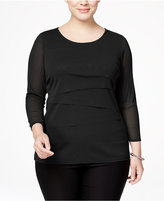 Alfani Plus Size Tiered Top, Created for Macy's