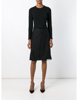 Nina Ricci lace overlay skirt