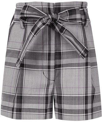 3.1 Phillip Lim Plaid High Waist Short