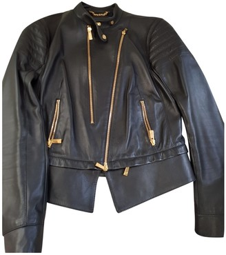 Porsche Design Black Leather Jacket for Women