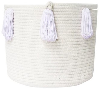 Twig + Tassel Lilac Tassel Basket - Medium