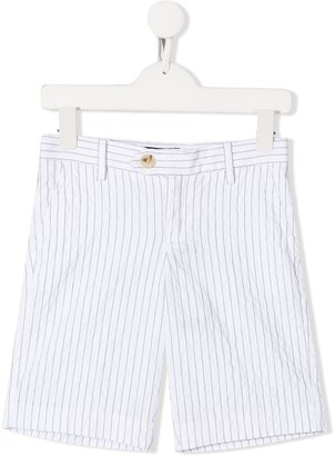 Emporio Armani Kids Striped Knee Length Shorts
