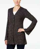 Style&Co. Style & Co Petite Three-Button Marled Cardigan, Only at Macy's