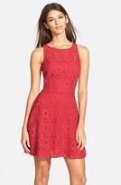 BB Dakota Women's 'Renley' Lace Fit & Flare Dress