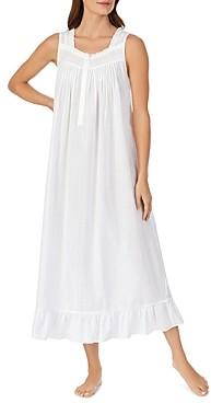 Eileen West Striped Sleeveless Ballet Gown