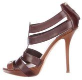 Christian Dior Leather Caged Sandals