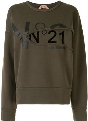 No.21 Ripped Logo Sweatshirt