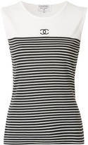 Chanel Pre Owned Sleeveless Tops
