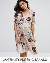 Bluebelle Maternity Bluebelle Nursing Floral Wrap Dress