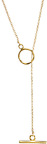 Dogeared Karma Open Toggle Necklace, Gold