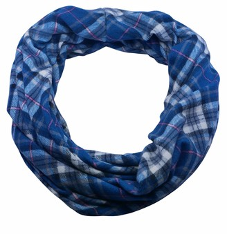 Sincerely For You Sincerelyforyou - Infinity Loop Scarf Women Winter Scarves Tube Scarf Tartan Check Design Neck Warmer Snood (Blue)