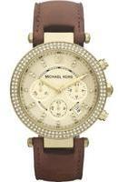 Michael Kors Ladies Brown Leather Strap Watch MK2249