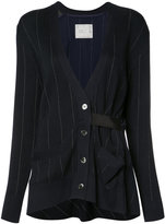 Sacai pinstriped cardigan - women - Cotton/Polyester - 2
