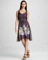 Johnny Was Collection Lauren Drawstring Dress, Purple/Multi