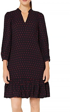 Hobbs London Erin Square Print Dress