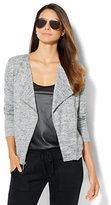 New York & Co. Lounge - Knit Moto Jacket