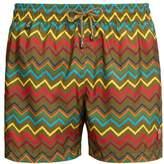 Missoni Mare - Zigzag Print Swim Shorts - Mens - Khaki