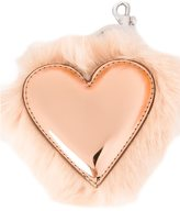 Stella McCartney heart shape keyring - women - Modacrylic/Artificial Leather - One Size