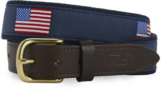 Vineyard Vines Big & Tall American Flag Canvas Belt