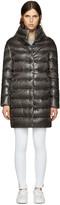 Herno Grey Down Cocoon Coat
