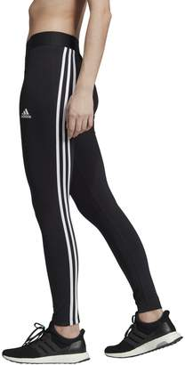 adidas Asymmetrical 3-Stripes Cotton Mix Leggings with High Waist