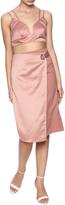 Hommage Satin Blush Skirt Set