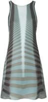 Amanda Wakeley Beam Aqua & Ebony Short Dress