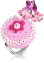 Dolci Gioie Sterling Silver Cake Charm Ring