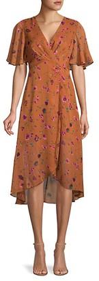 ASTR the Label Floral-Print Faux Wrap Dress