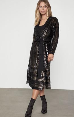 BCBGMAXAZRIA Sequin Wrap Dress