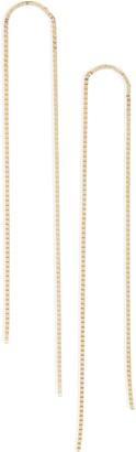 Poppy Finch Slim Arch Box Chain Earrings