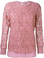 Ermanno Scervino laced top - women - Silk/Acrylic/Polyester - 42