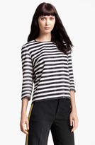 Stripe Silk & Cotton Top