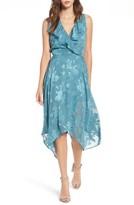 Leith Women's Handkerchief Hem Faux-Wrap Midi Dress