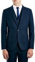 Topman Navy Skinny Fit Suit Jacket
