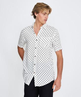 Victoria's Secret The People Stevie Shirt Polka Dot White
