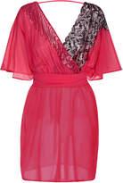 Magic Fuschia silk and Leavers lace short dress