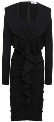 Givenchy Ruched Ruffled Wool-jersey Dress