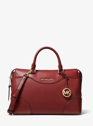MICHAEL Michael Kors Maya Large Pebbled Leather Satchel