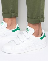 adidas Stan Smith Velcro Sneakers In White S75187