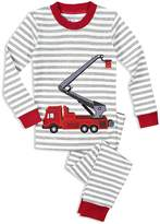 Sara's Prints Boys' Fire Truck Pajama Shirt & Pants Set