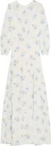 Vilshenko Lucy floral-print silk-gazar gown